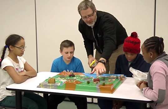 Leaphart Elementary students developed a watershed management plan.