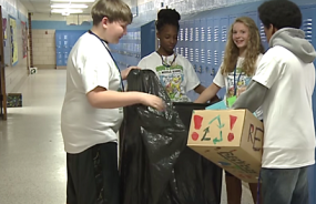 Students at Southside Middle School launched a recycling program.