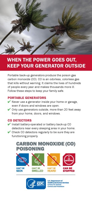 CDC Carbon Monoxide -Generator Safety English