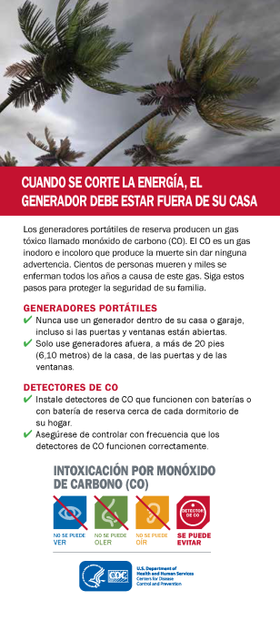 CDC Carbon Monoxide -Generator Safety Spanish